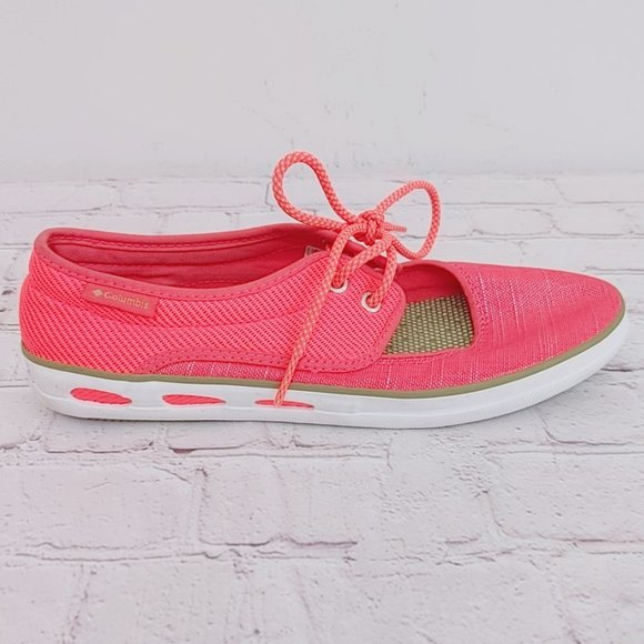 Columbia Vulc N Vent Peep Toe Casual Laser Red